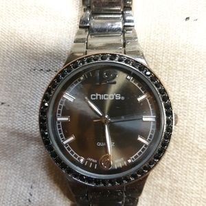 Chicos gun metal boyfriend watch